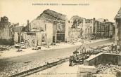 Lacroix sur Meuse - rue bombardée