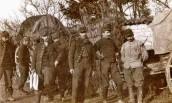 Train régimentaire du 56ème RI à Vignot en novembre 1914  (Coll. NL/PCD14)